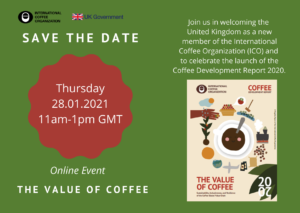 Save the date, the Value of Coffee
